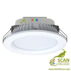 چراغ سیلندری توکار سفید و آفتابی و RGB هم زمان