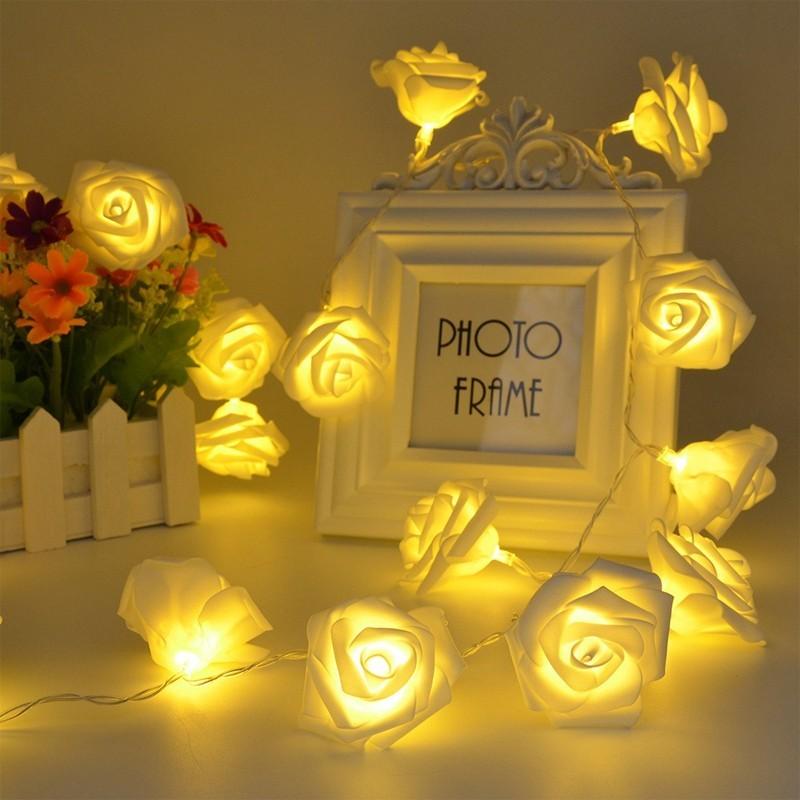 ریسه LED گل رز جنس فوم