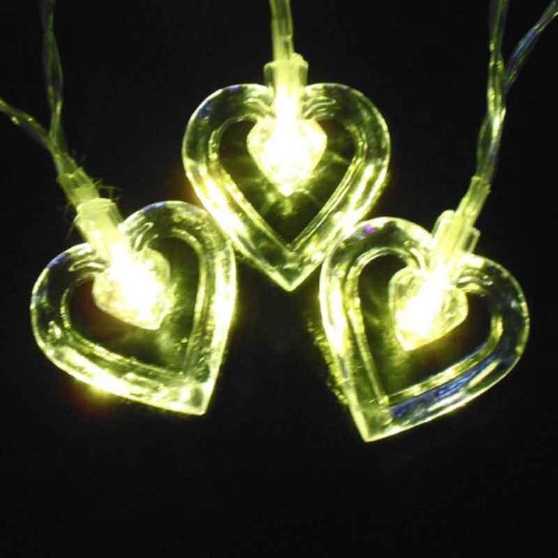 ریسه LED قلب شیشه ای