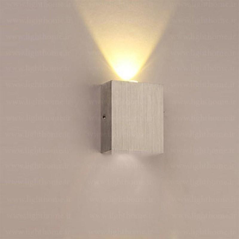 چراغ دکوراتیو دیواری مربعی یک طرفه و دو طرفه ( یک پر و دوپر )