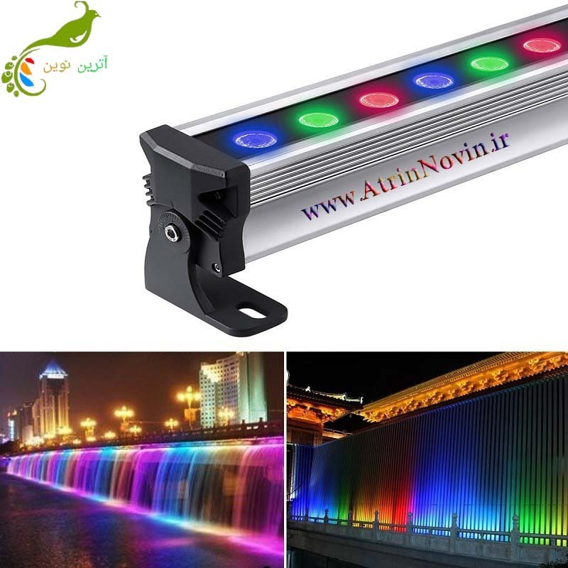 والواشر ۳۶W 12v 4pixel (Wall washer RGB)