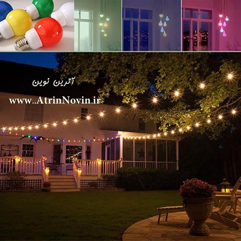 لامپ LED حبابدار رنگی 1 وات