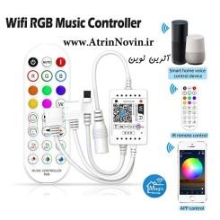 کنترلر و درایور LED RGB WIFI با ریموت 24 کلید IR