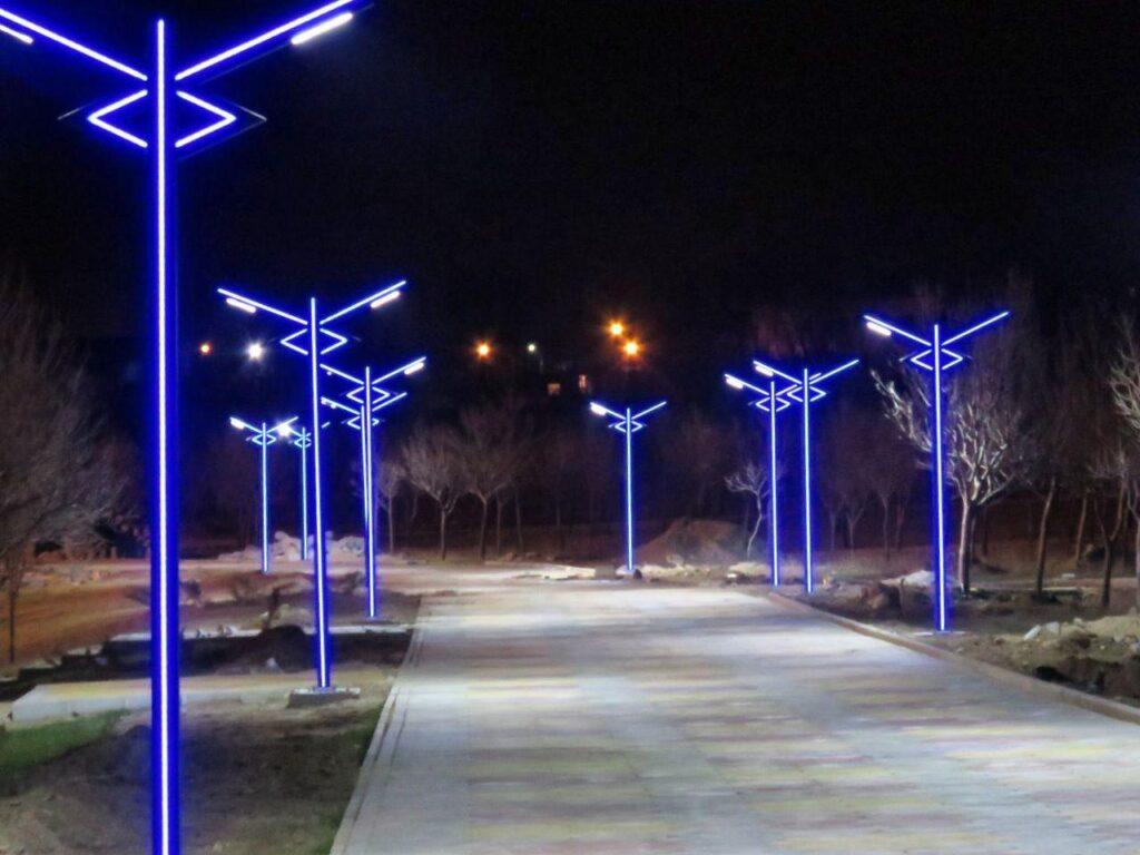نورپردازی المان ، نورپردازی تندیس ، نورپردازی تیرچراغ برق
