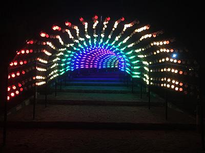 تونل نوری دیجیتال ، نورپردازی دیجیتال تونل ، ریسه تونلی