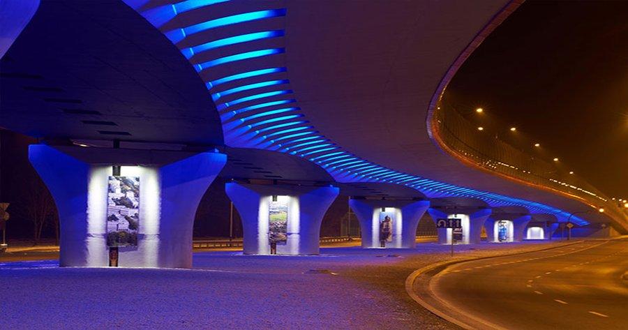 زیباسازی پل ، نورپردازی پل ، نورپردازی خیابان ، زیبا سازی شهر ، نورپردازی فضای شهری