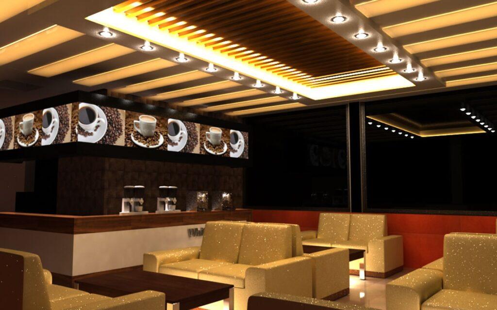 نورپردازی رستوران ، روشنایی رستوران ، دکوراسیون رستوران