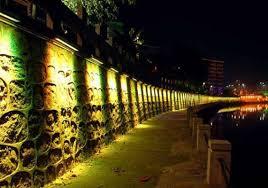 وال واشر ، تونل نوری ، نور ، نورپردازی شهر ، نورپردازی پیاده رو ، ال ای دی ، led