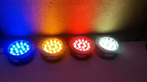 چراغ استخری تمام رنگ ، چراغ استخری تک رنگ
