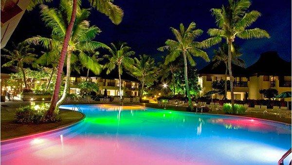 نورپردازی استخر و آبنما تک رنگ و RGB