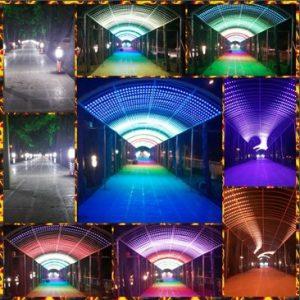 نورپردازی دیجیتال ، نورپردازی ساختمان ، پروژکتور ، پیکسل ال ای دی ، تنول نوری ، ریسه سوزنی ، نورپردازی پل