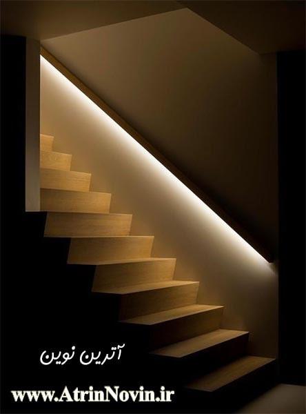 جدیدترین نورپردازی هوشمند راه پله