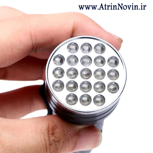 flashlight uv 21 led ، چراغ قوه uv 21 ال ای دی